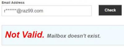 email validity