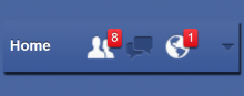 Facebook Notifications off on