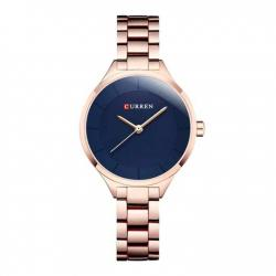 9015 - Stainless Steel Analog Watches for Women - Rose Gold