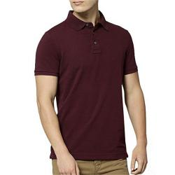 DUDE STYLE Maroon Cotton Polo For Men