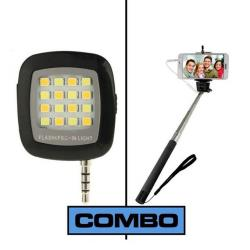 Wow Box Combo of Selfie Stick + Flash Light