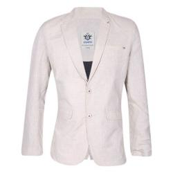 XIAZ Light Pink Cotton Casual Blazer For Men
