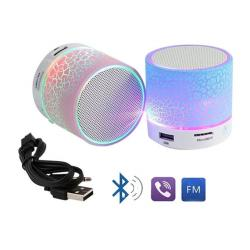 ROS Electronics High Quality Mini Bluetooth Speakers with LED Effect And all in one facility – Multicolor