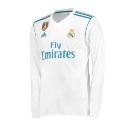 Jersey House BD Real Madrid 2017/18 Official Home Long Sleeve Jersey