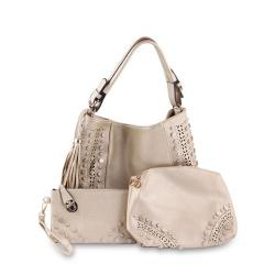 New Top Ten Leather Hand Bag - Bisque