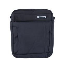 Rafa Stylish Polyester Messenger Bag For Men - Black