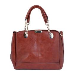 New Top Ten PU Leather Hand Bag For Women - Dark Brown