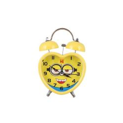 Super Star Gifts Plastic Table Clock - Yellow