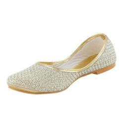 Mollika White Syntheti Ballerina for Women
