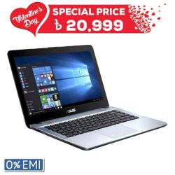 Asus X441NA Notebook - Intel Celeron Dual Core 1.60 GHz up to 2.48 GHz - 4GB DDR3 - 500 HDD - 14 inch - Black Gradient