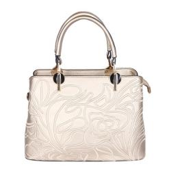 Singapore Fashion Linen Leather Hand Bag For Women