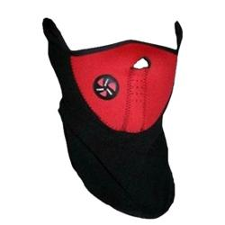 Winter Mask For Bike Rider - Black and Red