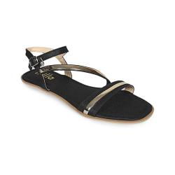 Leelabali Black Artificial Leather Sliper For Women