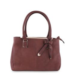 New Top Ten Leather Hand Bag - Saddle Brown