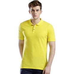 Bros Hunt Sunny Yellow Cotton Polo For Men