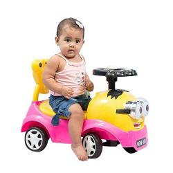Wall Touch Minion Push Car - Yellow And Pink