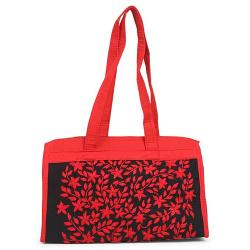 Unique Collection Hand Made Beauty Bag - Red and Black
