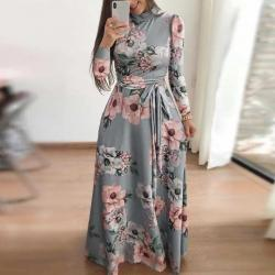 Perfect Meet casual home fashion Womens Boho Maxi Dress Ladies Holiday Long Sleeve Long Sleeve Dress
