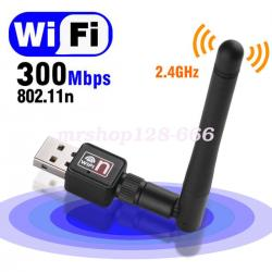 300 MBPS USB WiFi RECEIVER with high speed Antenna TV.VIDEO .FB