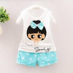 Infant Baby Boys Girls Letter Pocket T-Shirt Tops Striped Pants 2Pcs Set Outfits