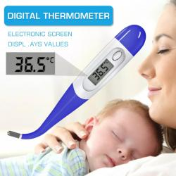 Digital Thermometer- Flexible Tip, Larger display, Best quality