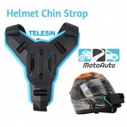 TELESIN Motorcycle Helmet Strap Mount Front Chin Mount With JHook for Action Camera like Gopro YI Mijia Eken SJCam
