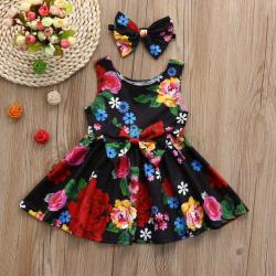 BlingBlingStar Toddler Kid Baby Girl Clothes Floral Bowknot Princess Party Dresses Outfits