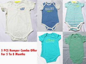 4 pcs Romper Combo Offer For 5 Months - 8 Months baby