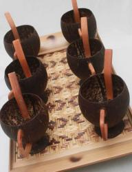 Earth Friendly Tea Serving Tray with Cup and Spoon set
