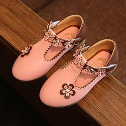 Perfect Meet Princess shoes Baby Fashion Sneaker Child Girls Floral Casual Single Leather Pricness Shoes