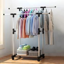 Double Pole Clothing Rack- Very Useful And Modern Style