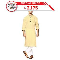 Apara Yellow Cotton Panjabi for Men