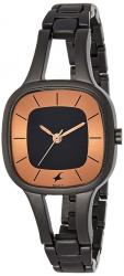 Fastrack Black Dial Women's Watch- 6147NM01