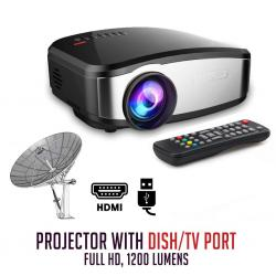 Projector With Dish/TV Port- (Cheerlux C6, 1200 Lumens)